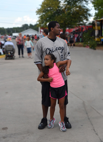 father and daughter at the Iowa State Fair, 2016