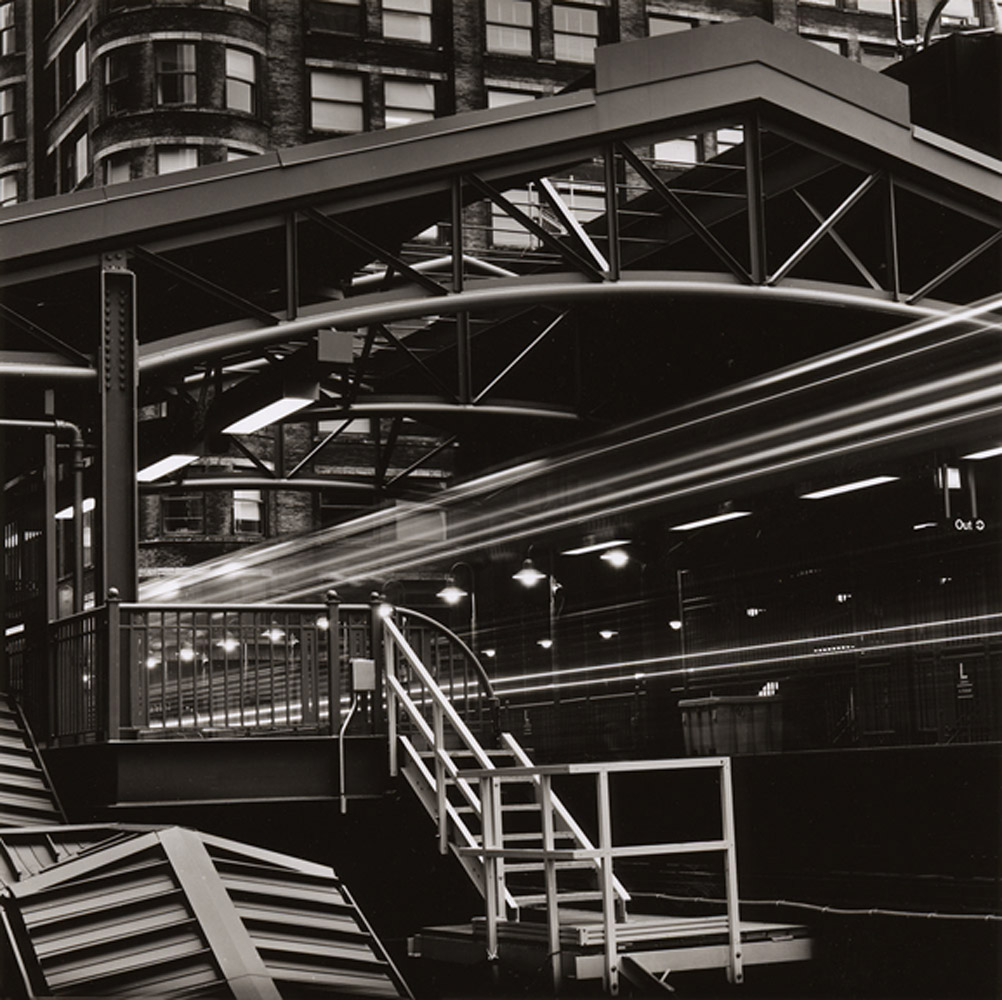 Elevated subway stop in the Chicago Loop, 1996