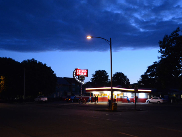 Ice cream stand in Tacoma, Washington, 2012