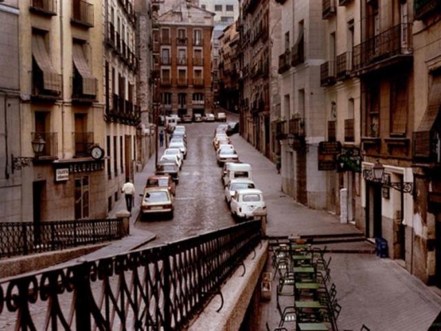 Near Plaza Mayor in Madrid, 1983