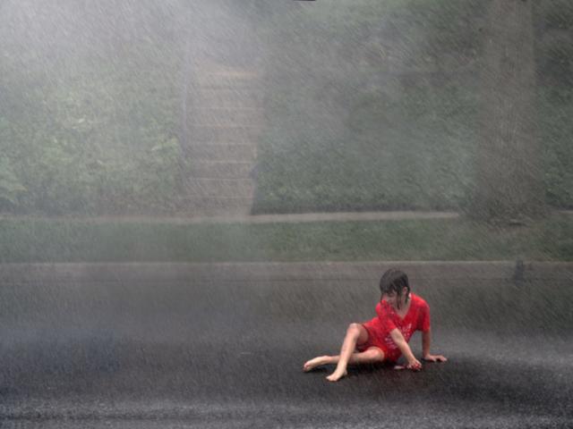 A girl in the rain, © Robert George 2018